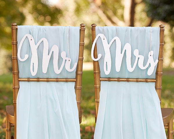 Reception Chair Signs: Silver