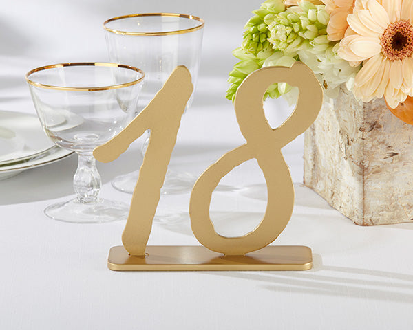 Table Numbers: Classic Gold