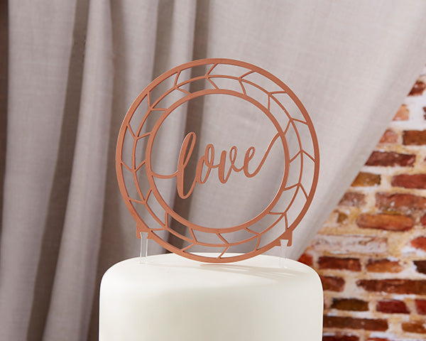 Industrial Wedding: Copper Cake Topper