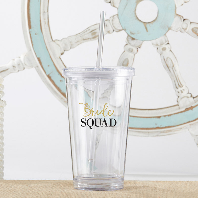 Bride Squad Tumbler | Gifts for Your Bridesmaids Under 21 | My Wedding Favors