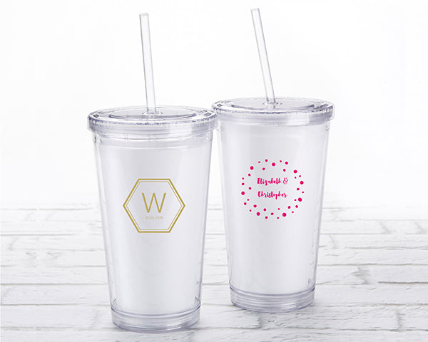 Acrylic Tumbler | Modern Classic Wedding Favors | My Wedding Favors