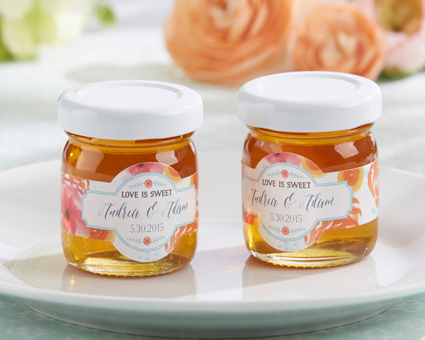 Edible Wedding Favors: Jars of Honey