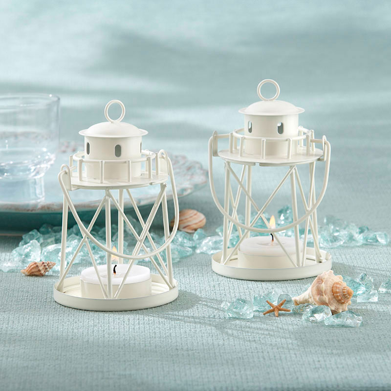 Lighthouse Lanterns | How to Decorate for an Elegant Beach Wedding | My Wedding Favors