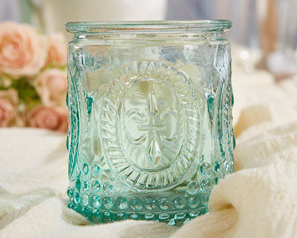 """Vintage"" Blue Glass Tea Light Holder (Set of 4)"