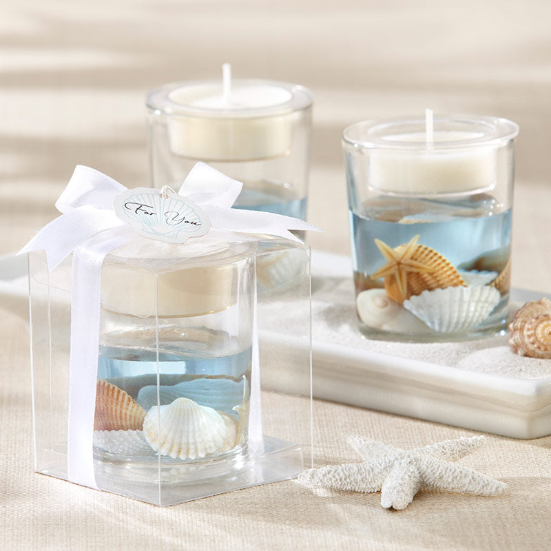 Seashell Tealight Holders | How to Decorate for an Elegant Beach Wedding | My Wedding Favors