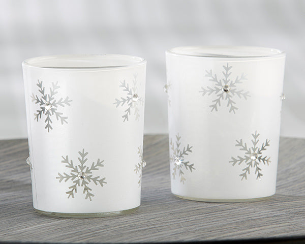 Snowflake Candle Holders | 7 Bridesmaids Gifts for a Holiday Wedding | My Wedding Favors