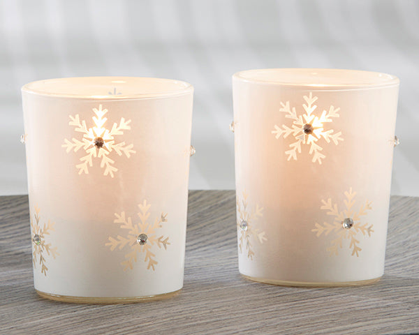 Snowflake Tea Light Holders | 9 Holiday Gifts Any Bride and Groom Would Love | My Wedding Favors