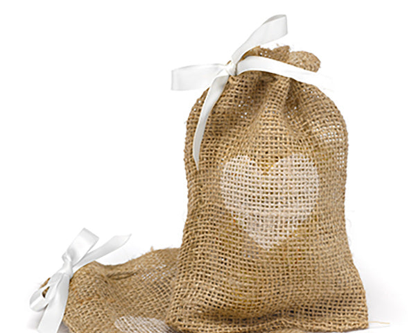 Rustic Burlap Favor Bags | 8 Decor Ideas for a Rustic Bridal Shower | My Wedding Favors