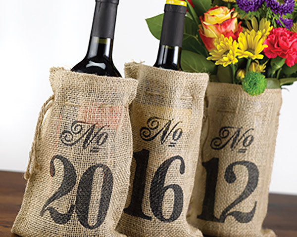 Table Number Wine Bags | 9 Charming Wedding Table Decor Ideas | My Wedding Favors
