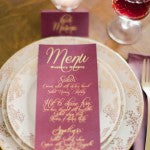 Marsala Wedding Reception Decorations: Marsala Place Setting
