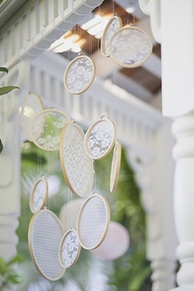 Hanging Lace | Incorporating Lace Into Your Wedding | My Wedding Favors
