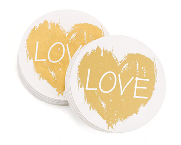 Love Coaster | 8 Coasters That Will Dress Up Your Wedding Reception Tables | My Wedding Favors