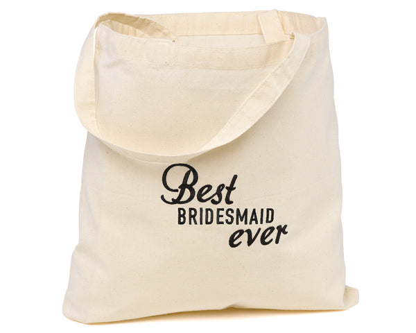 Best Bridesmaid Ever Tote Bag | 7 Bridesmaid Gifts Your Ladies are Sure to Love | My Wedding Favors