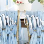 Reception Chair Signs: Silver Mirror