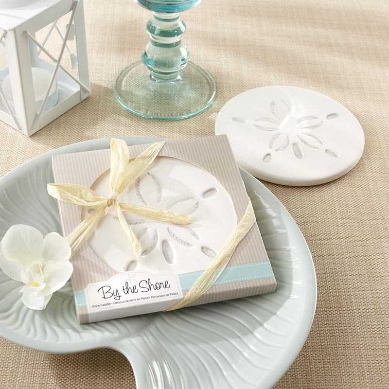 Sand Dollar Coasters | How to Decorate for an Elegant Beach Wedding | My Wedding Favors
