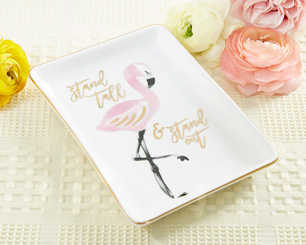 Flamingo Trinket Dish | 8 Spring Wedding Favors Your Guests Will Love | My Wedding Favors
