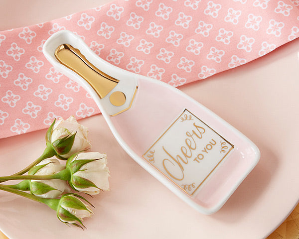 Pink Champagne Trinket Dishes | Everything You Need for a Champagne Brunch Bridal Shower | My Wedding Favors
