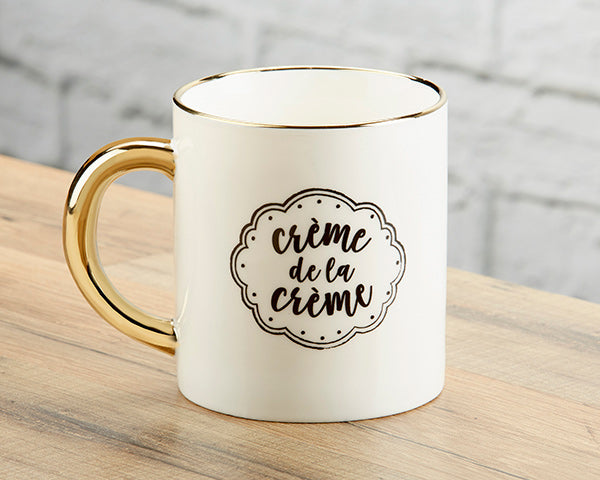 Creme De La Creme Mug | 9 Gold Party Favors Everyone Will Love | My Wedding Favors