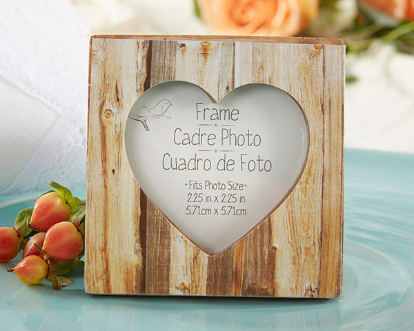 Rustic Wedding Favors: Wood Frame