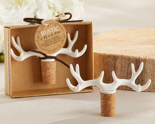 Rustic Wedding Favors: Antler Bottle Stopper