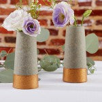 Industrial Wedding: Copper and Concrete Vases