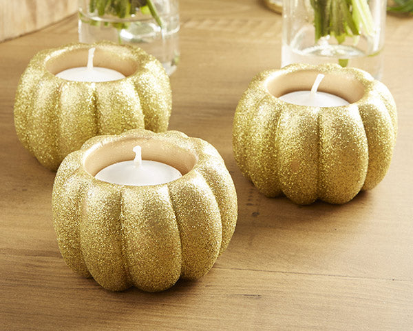 Pumpkin Candle Holders |  7 Pumpkin Favors for Your Fall Wedding | My Wedding Favors
