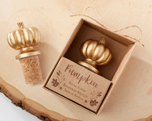 Pumpkin Bottle Stoppers |  7 Pumpkin Favors for Your Fall Wedding | My Wedding Favors