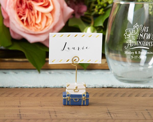 Suitcase Place Card Holders | 8 Favors for a Travel Themed Wedding  | My Wedding Favors