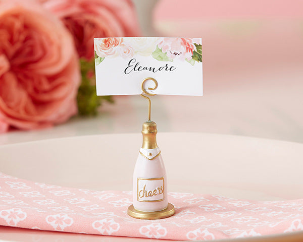 Champagne Bottle Place Card Holders | Everything You Need for a Champagne Brunch Bridal Shower | My Wedding Favors