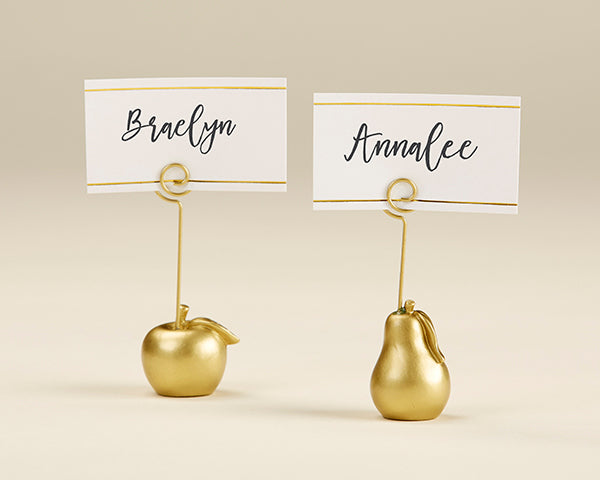 Apple and Pear | 8 Unique Wedding Reception Place Card Holders | My Wedding Favors