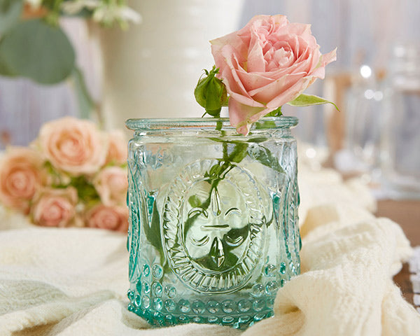 Vintage Blue Glass Vases | Everything You Need for a Champagne Brunch Bridal Shower | My Wedding Favors