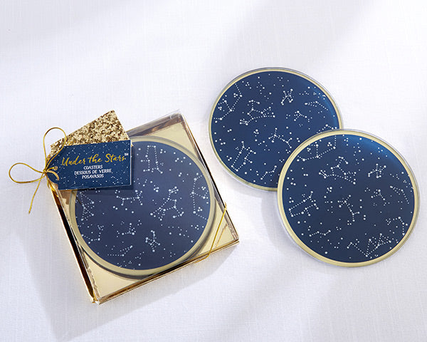 Constellation Coasters | 8 Coasters That Will Dress Up Your Wedding Reception Tables | My Wedding Favors