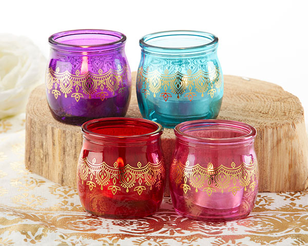 Indian Jewel Henna Tea Light Holders | Decor and Favors to Throw a Magnificent Mehndi Party | My Wedding Favors