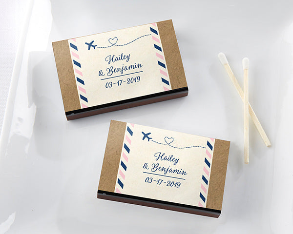 Personalized Matchboxes | 8 Favors for a Travel Themed Wedding  | My Wedding Favors