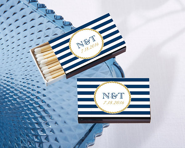 Nautical Wedding Favors: Nautical Matchboxes