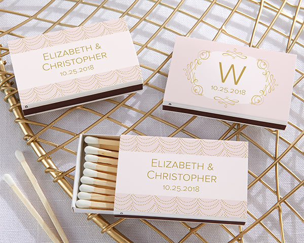 Modern Romance Matchboxes | 7 Rose Colored Wedding Favors | My Wedding Favors