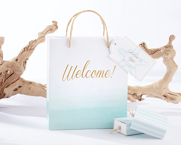 Beachy Wedding Favors: Welcome Bags