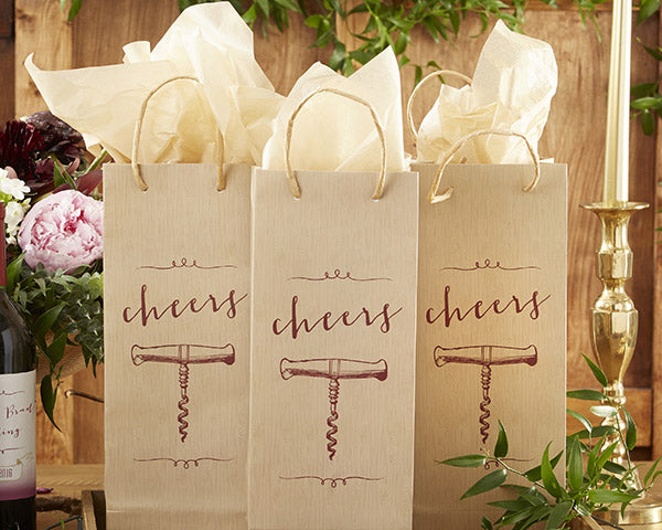 Wine Wedding Favors: Favor Bags
