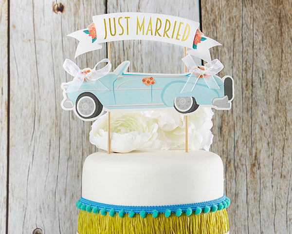 Just Married Cake Topper | 8 Cake Toppers For a Show Stopping Wedding | My Wedding Favors