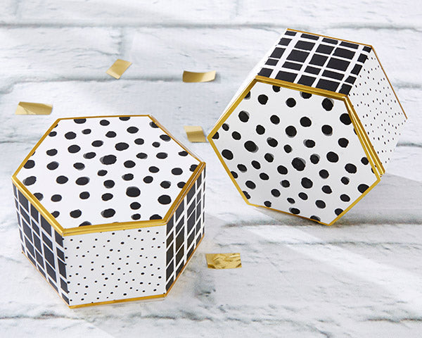 Hexagon Favor Boxes | Modern Classic Wedding Favors | My Wedding Favors