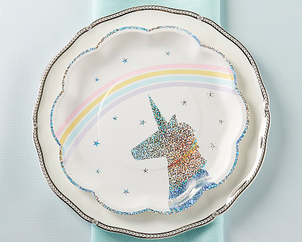 Enchanted Unicorn Paper Plates | An Enchanted Movie Night-In | My Wedding Favors