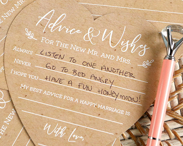 Advice Cards | 6 Well Wishes Ideas for the Newlyweds