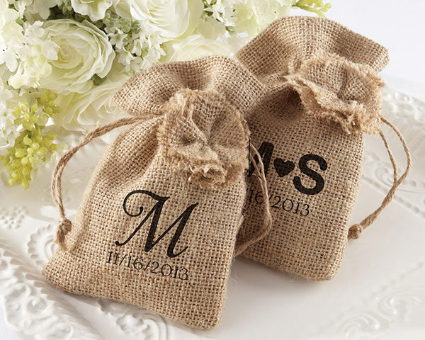 Rustic Wedding Favors: Burlap Bags