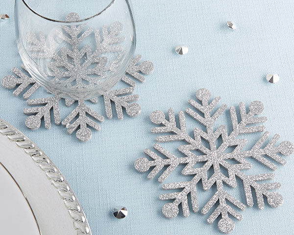 Christmas Wedding Decorations: Snowflake Coasters