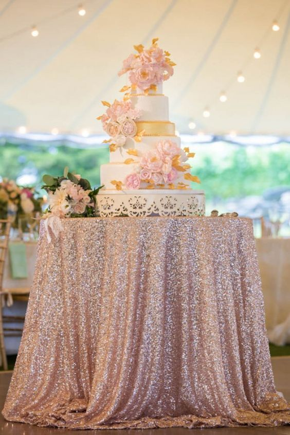 Rose Gold Wedding: Tablecloth