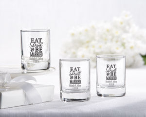 Personalized Shot Glass Wedding Favor