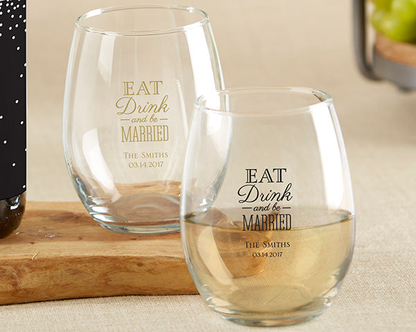 6 Ways To Personalize Your Wedding With Glassware Favors My