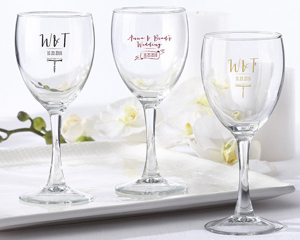 Wine Wedding Favors: Wine Glasses