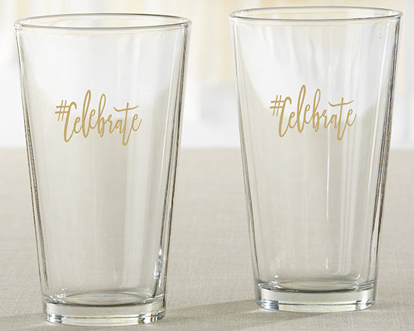 #Celebrate Pint Glasses | 9 Wedding Favors For a New Year's Eve Wedding | My Wedding Favors
