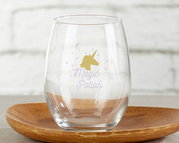 Magic Potian Stemless WIne Glass | An Enchanted Movie Night-In | My Wedding Favors
